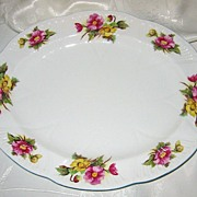 REDUCED Shelley - Begonia - Oval Platter