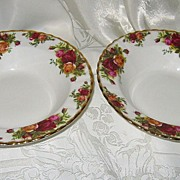 SALE Royal Albert - Old Country Roses - Rim Soups (2)