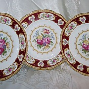 SALE Royal Albert - Lady Hamilton - Lunch Plates (3)