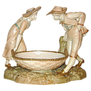 Royal Worcester  Hadley - Victorian  Girl & Boy with Basket ca1896