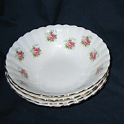 Royal Albert - Forget Me Not Rose - 4 Cereal Bowls