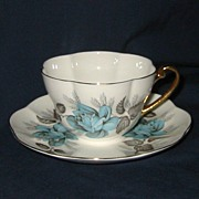 SALE Shelley - Blue Rose - Teacup Set