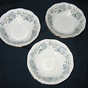 Royal Albert - Silver Maple - Fruit Bowls (3)