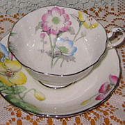 Paragon - Pretty Florals on White - Teacup Set