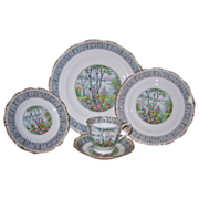 SALE Royal Albert - Silver Birch - 4 Place Settings (20pcs)