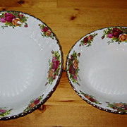 SALE Royal Albert - Old Country Roses -Round & Oval Veg. Bowls