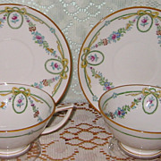 Mintons - Ivanhoe - Art Nouveau Teacup Sets