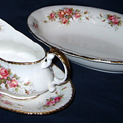 SALE Paragon - Elizabeth Rose - Oval Serving Bowl & Gravy Boat