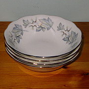 REDUCED Royal Albert - Silver Maple - Cereal Bowls (4)