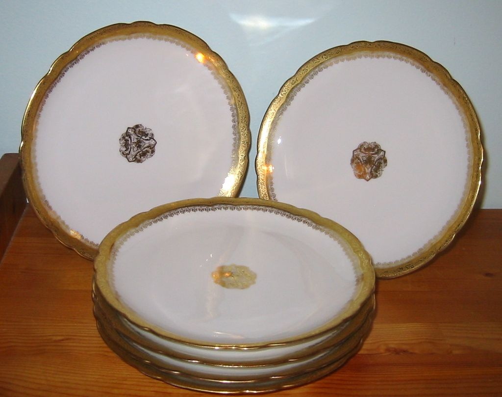 Antique Limoges Jean Pouyat - Lunch Plates (6)
