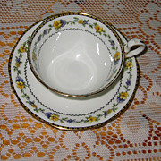 SALE Aynsley - Lavender & Yellow Florals - Teacup Set