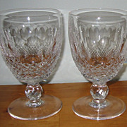 SALE Waterford Crystal - Colleen - Water Goblets  (2)