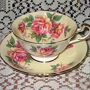 SALE Paragon - Pink Roses on Cream - Teacup Set