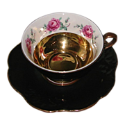 Royal Heidelberg - Roses on Golden Black - Teacup Set