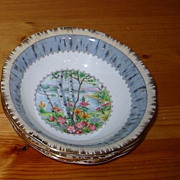 Royal Albert - Silver Birch - Fruit Bowls (4)