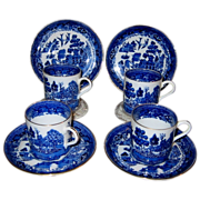 Aynsley - Blue Willow - Demitasse Sets (4)