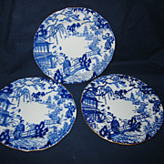 "Royal Crown Derby - Blue Mikado - 7"" Plates"