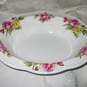 SALE Shelley - Begonia - Oval Vegetable Bowl