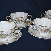 SALE Haviland & Co. (Limoges) - Floral Bouillon Cups