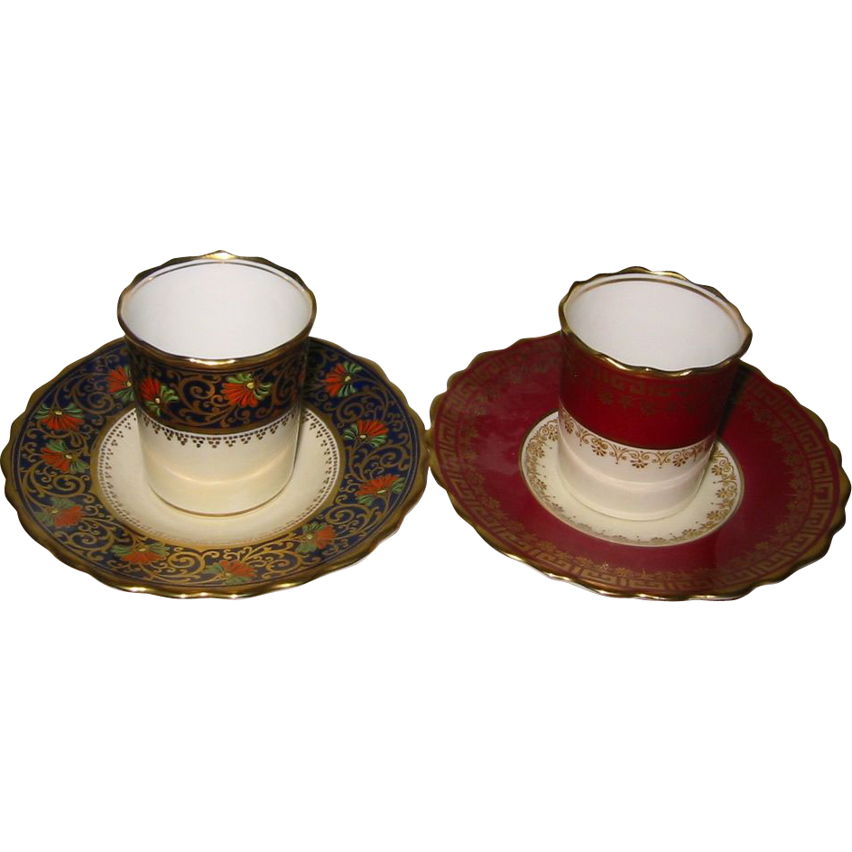 Aynsley - Demitasse Tea/Coffee Can Sets (2)