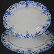 SALE Shelley - Dainty Blue - Oval Platters (2)
