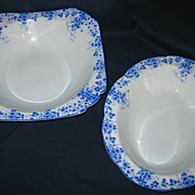 REDUCED Shelley - Dainty Blue - Serving Bowls (2)