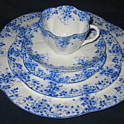 SOLD Shelley - Dainty Blue - Place Setting 5pc