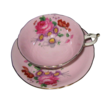 Paragon - Florals on Pink - Teacup Set