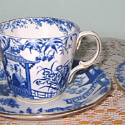 Royal Crown Derby - Blue Mikado - Demitasse Set ca1926