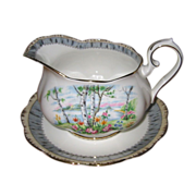 SALE Royal Albert - Silver Birch - Gravy Boat & Tray
