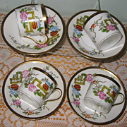 Nippon - Red Pot-  Demitasse Sets (4)