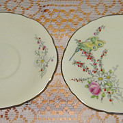Paragon - Princess Margaret Rose - Oval Saucers (2)