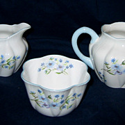 Shelley - Blue Rock - Creamers & Sugar Bowl