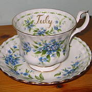 Royal Albert - Flower of the Month Teacup Set - July