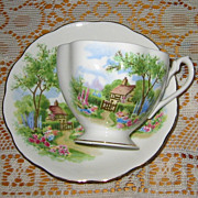 Queen Anne - Tudor Cottage - Teacup Set