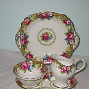 Paragon - Tapestry Rose - Cream, Sugar & Trays