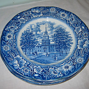 SALE Staffordshire - Liberty Blue - Dinner Plates (4)