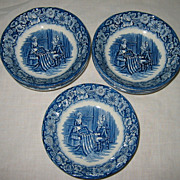 Staffordshire - Liberty Blue - Fruit Bowls (7)