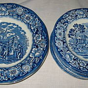 Staffordshire - Liberty Blue - Side Plates (10)