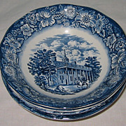 Staffordshire - Liberty Blue - Cereal Bowls (4)