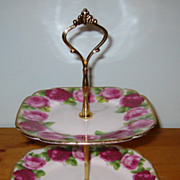 Royal Albert - Old English Rose - 2 Tier Dessert Tray
