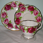 SALE Royal Albert - Old English Rose - Teacup Trio