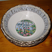 Royal Albert - Silver Birch - Cereal Bowls (4)