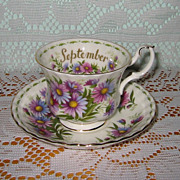 Royal Albert - Flower of the Month Teacup Set - September