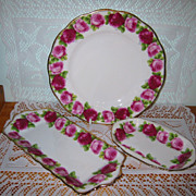 Royal Albert - Old English Rose - Plate & Trays (3pcs)