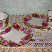 Royal Albert - Old English Rose - Snack Tray Sets (4pcs)