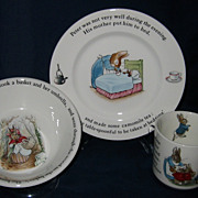 Wedgwood - Peter Rabbit Plate, Mug & Bowl