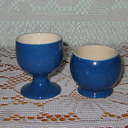 Moorcroft - Blue Egg Cups (2)