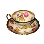 Foley - Floral Bouquets with Gold - Teacup Set