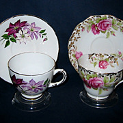 English Teacup Sets - Festival Rose & Asters